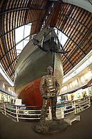 Roald Amundsen. Arctic Museum, Winter in Oslo Norway