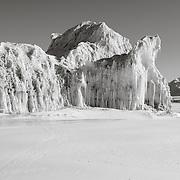 Iceberg and Weddell Seal tracks near Cape Bernacchi dive site