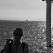 På färjan mot Gotland. En annan på väg mot fastlandet.<br /> PHOTO © Bernt Lindgren