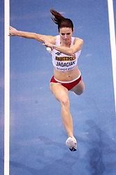 07.03.2014, Ergo Arena, Sopot, POL, IAAF, Leichtathletik Indoor WM, Sopot 2014, Tag 1, im Bild ANNA JAGACIAK // ANNA JAGACIAK during day one of IAAF World Indoor Championships Sopot 2014 at the Ergo Arena in Sopot, Poland on 2014/03/07. EXPA Pictures © 2014, PhotoCredit: EXPA/ Newspix/ Piotr Matusewicz<br /> <br /> *****ATTENTION - for AUT, SLO, CRO, SRB, BIH, MAZ, TUR, SUI, SWE only*****
