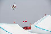 Nick Goepper, USA, at thePyeongchang 2018 Winter Olympics men's freestyle ski slopestyle on February 18th 2017, at the Phoenix Snow Park inPyeongchang-gun, South Korea.