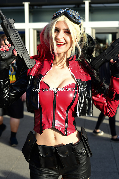 London, UK. 27th October, 2019. Cosplay fans attends the MCM Comic Con London 2019, last day which took place at the Excel Centre with hundreds of stall exhibition. The weekend offered comic fans the chance to dress up as their favourite characters. Credit: Picture Capital