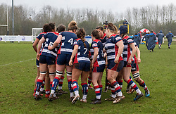 Bristol Ladies huddle before facing Harlequins Ladies - Mandatory by-line: Paul Knight/JMP - 03/02/2018 - RUGBY - Cleve RFC - Bristol, England - Bristol Ladies v Harlequins Ladies - Tyrrells Premier 15s