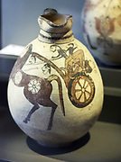 Jugs with scenic decorations Cyprus.