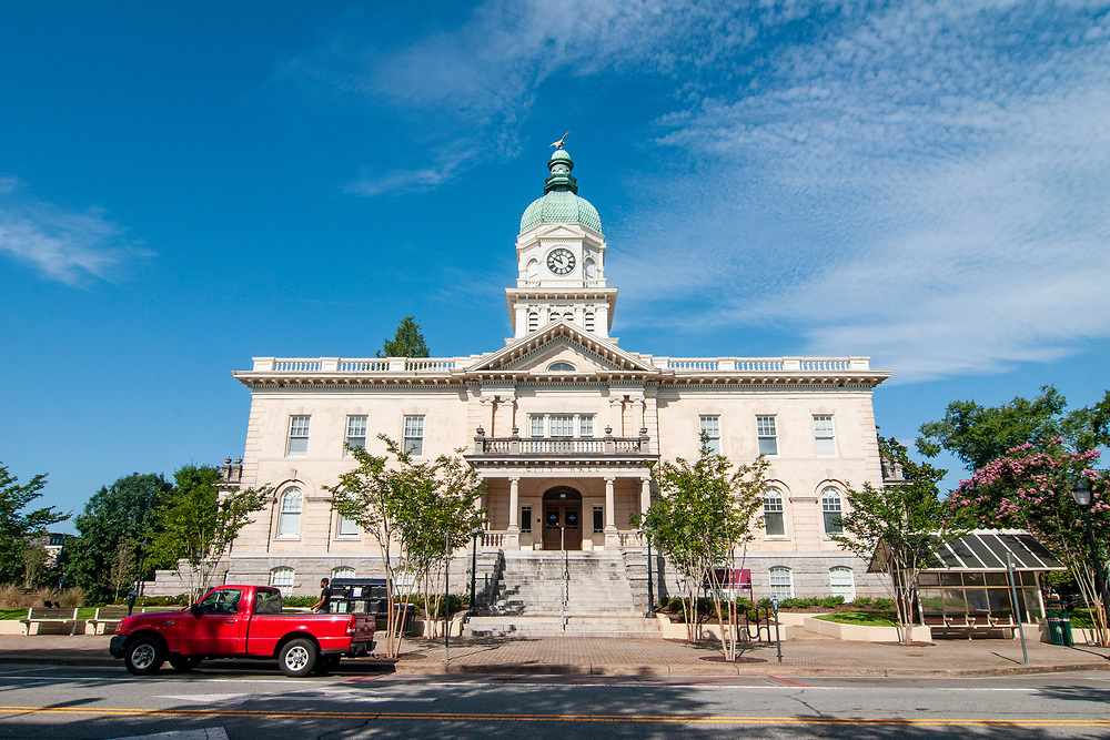The Athens-Clarke County Courthouse in Athens, Georgia on Wednesday, July 14, 2021. Copyright 2021 Jason Barnette