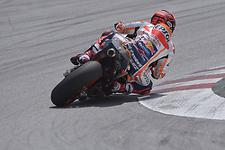 February 7, 2019 - Sepang, Malaysia - Repsol Honda Team's rider Marc Marquez of Spain takes a corner during takes a corner during the second day of the 2019 MotoGP pre-season testing at Sepang International Circuit February 7, 2019. (Credit Image: © Zahim Mohd/NurPhoto via ZUMA Press)