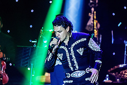 """ANAHEIM, CA - JULY 18: Mexican super star Pedro Fernandez kept his fans singing and dancing at the beat of his classic songs: """"Yo no Fui"""", """"La Mochila Azul""""  during his concert at M3 Live on July 18, 2015 in Anaheim, California. Byline, credit, TV usage, web usage or linkback must read SILVEXPHOTO.COM. Failure to byline correctly will incur double the agreed fee. Tel: +1 714 504 6870."""