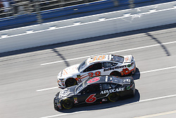 April 29, 2018 - Talladega, Alabama, United States of America - Trevor Bayne (6)  battles side by side down the front stretch for position during the GEICO 500 at Talladega Superspeedway in Talladega, Alabama. (Credit Image: © Justin R. Noe Asp Inc/ASP via ZUMA Wire)
