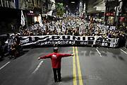 Nicolas Celaya/ URUGUAY/ MONTEVIDEO/ CENTRO<br /> En la foto, 22 Marcha del Silencio or la avenida 18 de Julio, en Montevideo. Nicolás Celaya /adhocFOTOS<br /> 2017 - 20 de mayo - sabado