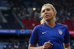 June 28, 2019 - Paris, France - Allie Long (Reign FC) of United States during the warm-up before the 2019 FIFA Women's World Cup France Quarter Final match between France and USA at Parc des Princes on June 28, 2019 in Paris, France. (Credit Image: © Jose Breton/NurPhoto via ZUMA Press)