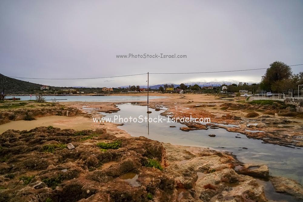 Rocky beach on the Greek Island of Crete