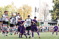 Cristobal Montiel of ACF Fiorentina (R) takes a free kick during the Pre-season Friendly match between Heracles Almelo and Fiorentina at Sportpark Wiesel  on August 01, 2018 in Wenum-Wiesel , The Netherlands