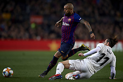 February 6, 2019 - Barcelona, Barcelona, Spain - Arturo Vidal of Barcelona and Gareth Bale of Real Madrid competes for the ball during the Spanish Cup (King's cup), first leg semi-final match between FC Barcelona and  Real Madrid at Camp Nou stadium on February 6, 2019 in Barcelona, Spain. (Credit Image: © Jose Breton/NurPhoto via ZUMA Press)