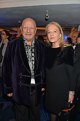 STEVEN BERKOFF and CLARA FISHER at the Chain of Hope Gala Ball held at The Grosvenor House Hotel, Park Lane, London on 18th November 2016.