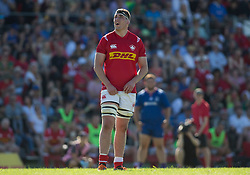 June 16, 2018 - Ottawa, ON, U.S. - OTTAWA, ON - JUNE 16: Josh Larsen (4 Lock ) of Canada in the Canada versus Russia international Rugby Union action on June 16, 2018, at Twin Elms Rugby Park in Ottawa, Canada. Russia won the game 43-20. (Photo by Sean Burges/Icon Sportswire) (Credit Image: © Sean Burges/Icon SMI via ZUMA Press)