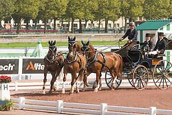 Koos De Ronde, (NED), Bilbo, Palero, Ulano, Zimba, Zimon - Eventing jumping - Alltech FEI World Equestrian Games™ 2014 - Normandy, France.<br /> © Hippo Foto Team - Dirk Caremans<br /> 04/09/14