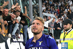 October 14, 2017 - Turin, Piedmont, Italy - Ciro IMMOBILE (SS Lazio) celebrates the victory against Juventus after the Serie A football match between Juventus FC and SS Lazio at Olympic Allianz Stadium on 14 October, 2017 in Turin, Italy. (Credit Image: © Massimiliano Ferraro/NurPhoto via ZUMA Press)