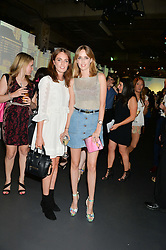 Left to right, LADY VIOLET MANNERS and LADY ALICE MANNERS at the Tiffany & Co. Exhibition 'Fifth And 57th' Opening Night held in The Old Selfridges Hotel, Orchard Street, London on 1st July 2015.