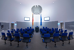 Model of Budestag inside the Parliamentary Historical Exhibition of the German Bundestag (Parlamentshistorische Ausstellung des Deutschen Bundestages) at Gendarmenmarkt in Berlin, Germany