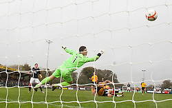 Falkirk's Farid El Alagui celebrates after scoring their third goal..Annan Athletic 0 v 3 Falkirk. Semi Final of the Ramsdens Cup, 9/10/2011..Pic © Michael Schofield.