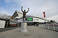 General view outside Ashto Gate Stadium of the John Atyeo statue before the The FA Cup 5th round match between Bristol City and Wolverhampton Wanderers at Ashton Gate, Bristol, England on 17 February 2019.