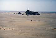 Photo of Arabian desert taken by helicopter pilot working in oil industry based in Dharhan, Saudi Arabia 1979
