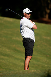 Former Ohio State head football coach Urban Myer tees off during the Chick-fil-A Peach Bowl Challenge at the Ritz Carlton Reynolds, Lake Oconee, on Tuesday, April 30, 2019, in Greensboro, GA. (Paul Abell via Abell Images for Chick-fil-A Peach Bowl Challenge)