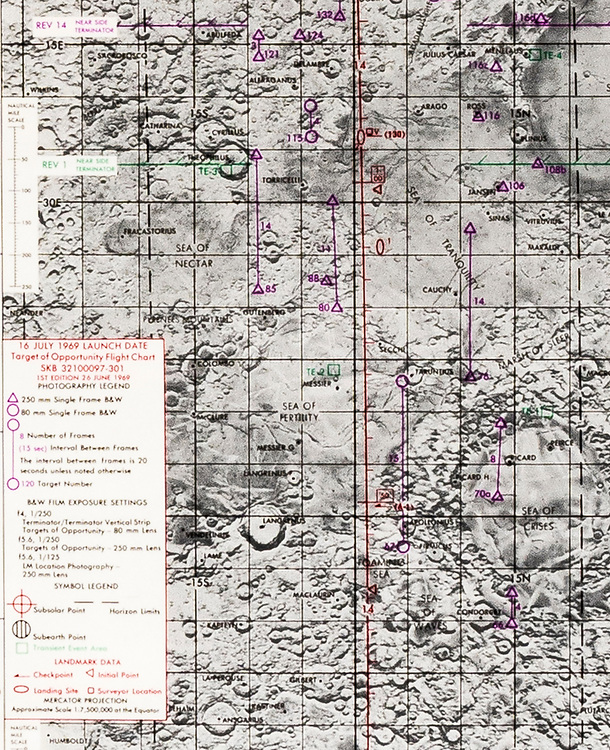 Detail, Apollo 11 Target of Opportunity Chart.