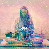 """Lotus Meditation.<br /> :::<br /> """"To the degree that we look clearly and compassionately at ourselves, we feel fearless looking into someone else's eyes."""" ― Pema Chödrön"""