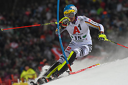 """29.01.2019, Planai, Schladming, AUT, FIS Weltcup Ski Alpin, Slalom, Herren, 1. Lauf, im Bild Felix Neureuther (GER) // Felix Neureuther of Germany in action during his 1st run of men's Slalom """"the Nightrace"""" of FIS ski alpine world cup at the Planai in Schladming, Austria on 2019/01/29. EXPA Pictures © 2019, PhotoCredit: EXPA/ Erich Spiess"""