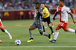 July 18, 2018 - Minneapolis, MN, USA - Minneapolis, MN - Wednesday, July 14, 2018: Minnesota United FC played New England Revolution in a Major League Soccer (MLS) game at TCF Bank Stadium Final score Minnesota United 2, New England 1 (Credit Image: © Jeremy Olson/ISIPhotos via ZUMA Wire)