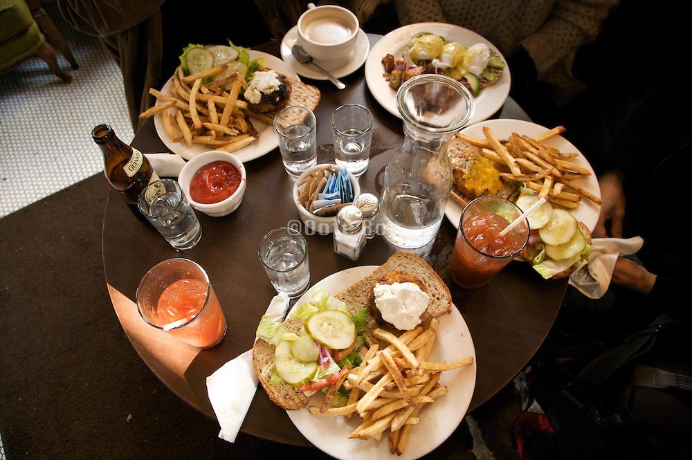 American food in a bar restaurant