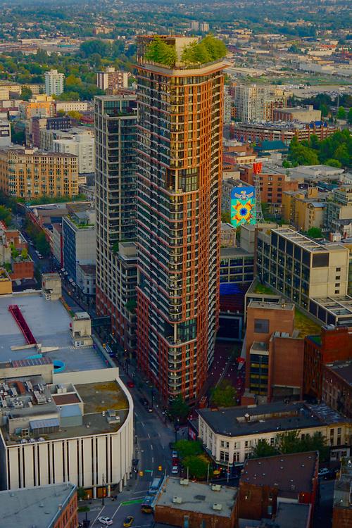 Vancouver, Apartment tower, rooftop garden, skyscraper garden, from Top of Vancouver