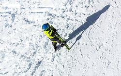 THEMENBILD - ein junger Skifahrer mit seinen Skiern wirft einen Schatten in den Schnee, aufgenommen am 06. Februar 2016, Saalbach, Österreich // a young skier with his skis casts a shadow in the snow in Saalbach, Austria on 2016/02/06. EXPA Pictures © 2016, PhotoCredit: EXPA/ JFK