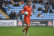 Bristol Rovers goalkeeper (on loan from Brentford) Jack Bonham (13) during the EFL Sky Bet League 1 match between Coventry City and Bristol Rovers at the Ricoh Arena, Coventry, England on 7 April 2019.