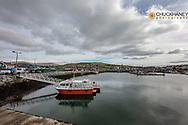 Fishing boast in harbor in Dingle, Ireland