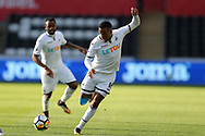 Martin Olsson of Swansea city in action. Swansea city v Sampdoria , pre-season friendly at the Liberty Stadium in Swansea, South Wales on Saturday August 5th 2017.<br /> pic by Andrew Orchard, Andrew Orchard sports photography.