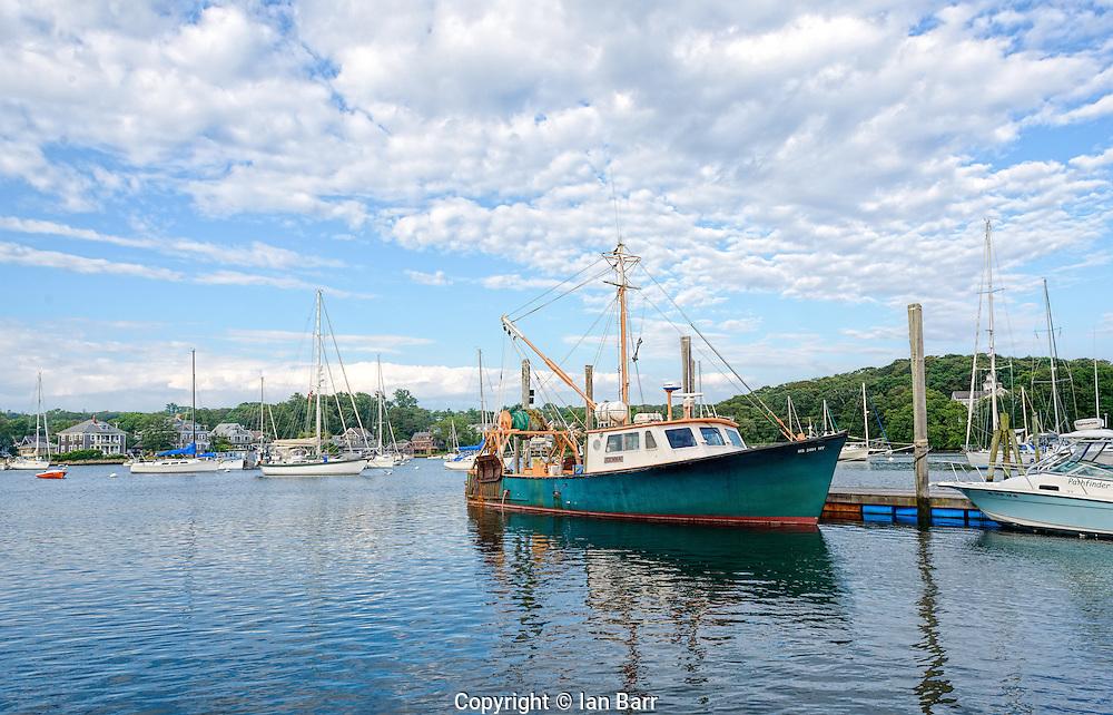 Harbor at Woods Hole, Cape Cod,Massachusetts,USA.