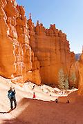 Hikers on the Navajo Loop walk, Bryce Canyon National park, UTAH United States of America