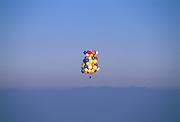 John Ninomiya, a cluster balloonist rises to about 4200 feet above the San Joaquin Valley near Coalinga, California.