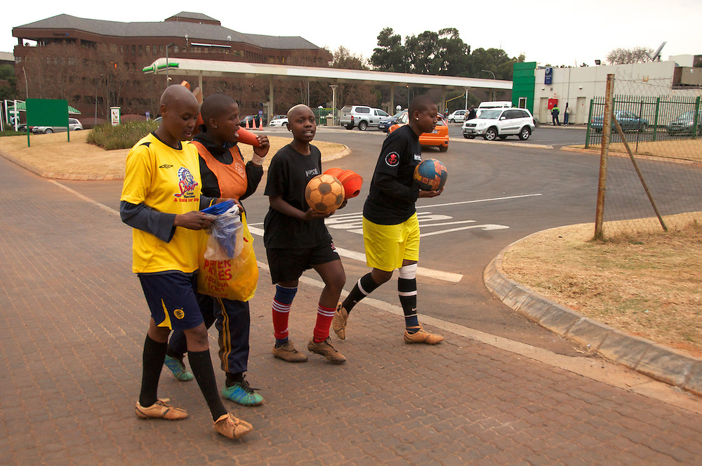The openly lesbian South African soccer team, Chosen Few practices for the Gay Games in Germany.