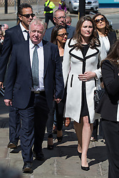 © Licensed to London News Pictures . 30/05/2015 . Manchester , UK . Les Dennis arriving . A public memorial for Coronation Street actress Anne Kirkbride at Manchester Cathedral , who died on 19th January 2015 . Photo credit : Joel Goodman/LNP
