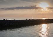 Havenhoofd bij de haven van Scheveningen, Den Haag   Pier at the harbour of The Hague Beach