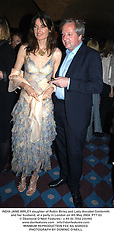 INDIA-JANE BIRLEY daughter of Robin Birley and Lady Annabel Goldsmith and her husband, at a party in London on 4th May 2004.PTT 63