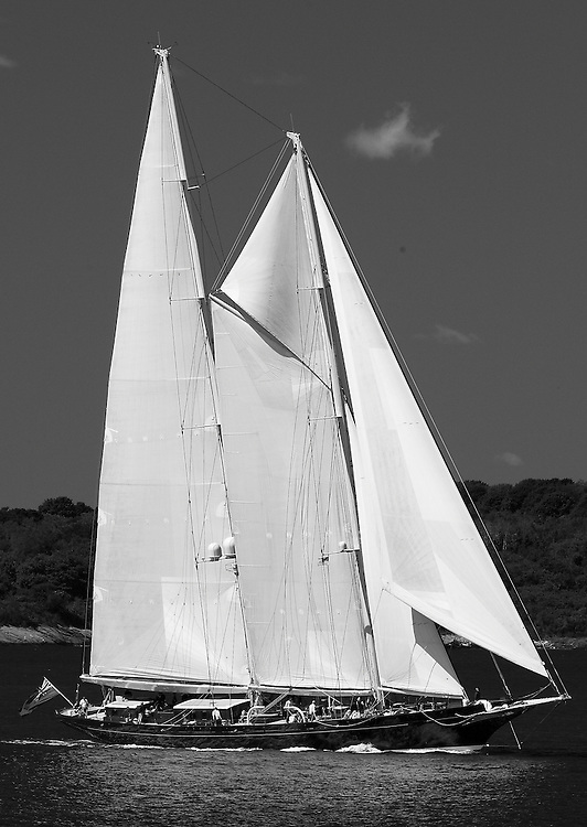 Meteor at the 2010 Newport Bucket. Super yachts racing in the 2010 Newport Bucket.