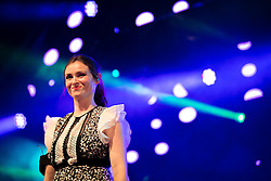 © Licensed to London News Pictures . 26/08/2016 . Manchester , UK . SOPHIE ELLIS-BEXTOR performs on the main stage at Manchester's Gay Village for 2016 Manchester Gay Pride Big Weekend . Photo credit : Joel Goodman/LNP