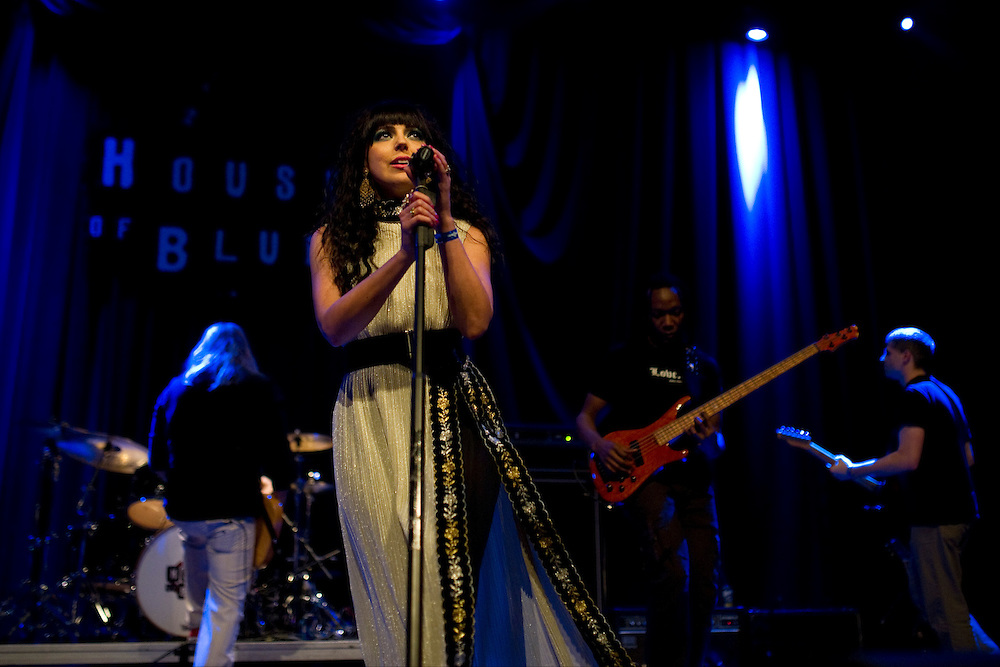 Julie Lange of the band The Bright performs during Dallas Rocks at the House of Blues Friday, February 1, 2013 in Dallas, Texas. (Cooper Neill/The Dallas Morning News)