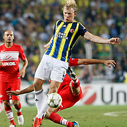 Fenerbahce's Dirk Kuyt during their UEFA Champions League Play-Offs, 2nd leg soccer match Fenerbahce between Spartak Moscow at Sukru Saracaoglu stadium in Istanbul Turkey on Wednesday 29 August 2012. Photo by TURKPIX