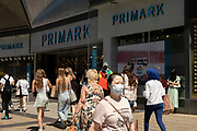 As the coronavirus restrictions continue and the government is about to announce an extension to the original freedom day planned for June, slowing the process of easing, more and more people begin to come to the city centre, seen here outside Primark near the Bullring shopping centre on 15th June 2021 in Birmingham, United Kingdom. After months of lockdown, the first signs that life will start to get back to normal continue, with more people enjoying the company of others in public, while uncertainty continues for a projected further month, which is being dubbed The final push.