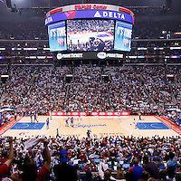 11 May 2014: General view of the court during the Los Angeles Clippers 101-99 victory over the Oklahoma City Thunder, during Game Four of the Western Conference Semifinals of the NBA Playoffs, at the Staples Center, Los Angeles, California, USA.